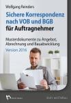 Sichere VOB-Korrespondenz nach VOB und BGB für Auftragnehmer