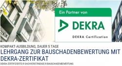 Lehrgang zur Bauschadenbewertung mit DEKRA-Zertifikat.
