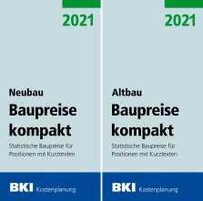 BKI Baupreise kompakt Altbau/Neubau 2021. Mit Abo-Service!