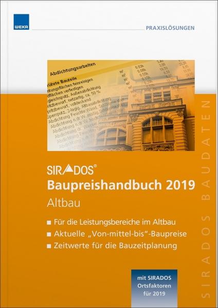SIRADOS. Baupreishandbuch Altbau 2019