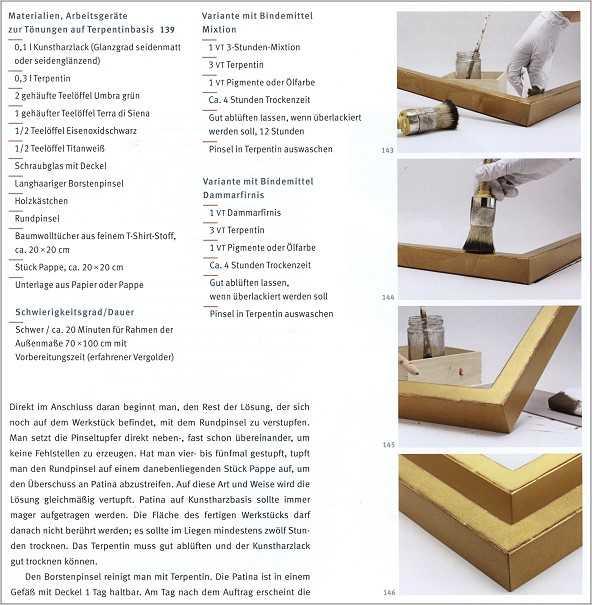 vergolden mit blattgold medienservice holzhandwerk. Black Bedroom Furniture Sets. Home Design Ideas
