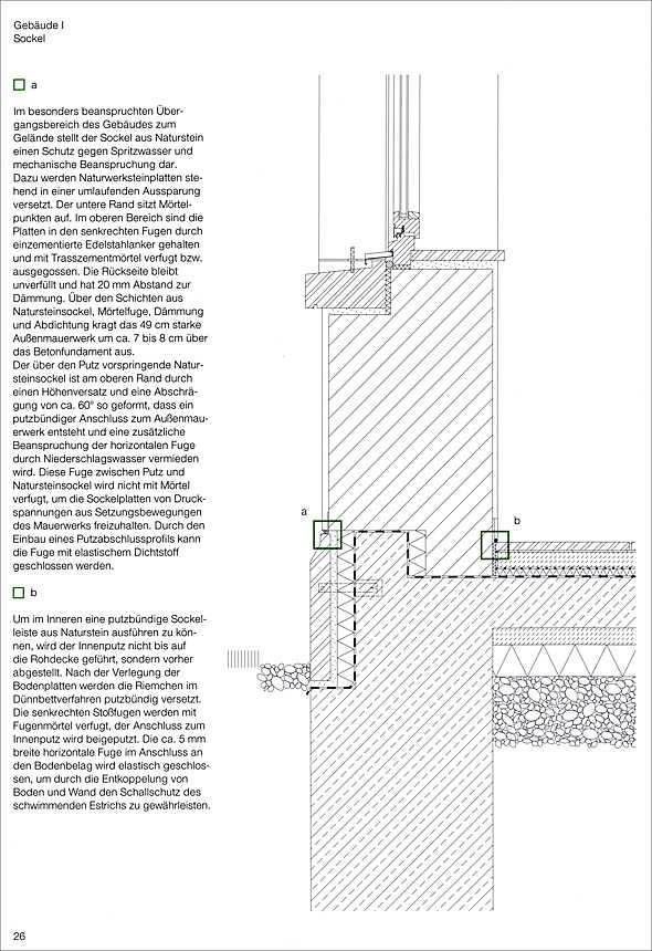 Holzbau detail sockel  Naturwerkstein. Detail Praxis | Medienservice Holzhandwerk