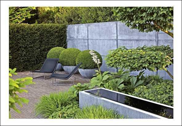 Design mit holz stein und metall medienservice for Gartengestaltung l form