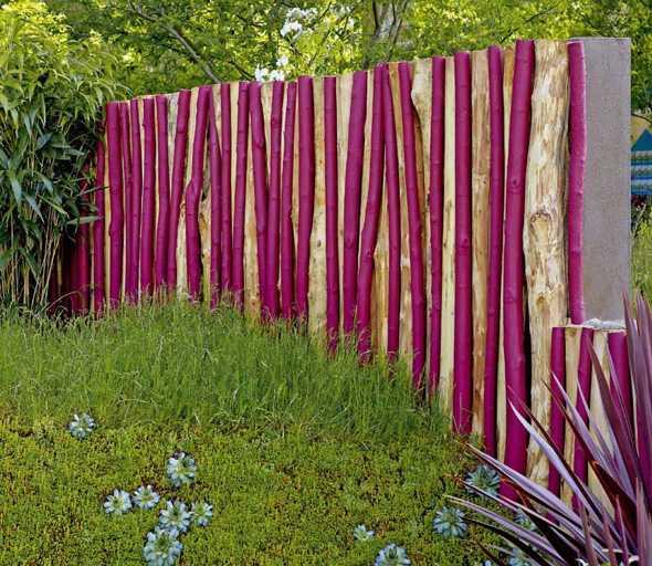 Sichtschutz Im Garten. | Medienservice Holzhandwerk Gartengestaltung Ideen Sichtschutz