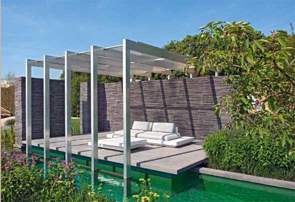 gartengestaltung mit natursteinen und holz – vivaverde.co, Garten Ideen